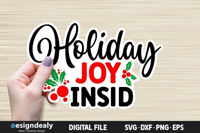 FREE Holiday Joy Inside SVG