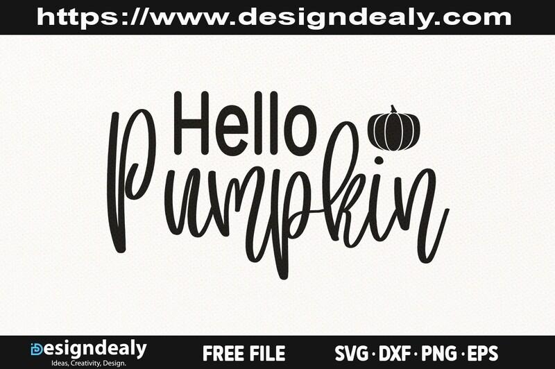 Hello Pumpkin SVG