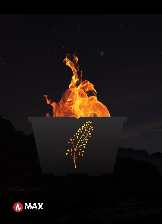 Retro Leaf Fire Pit