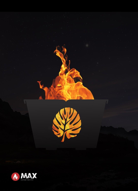 Island Leaf Fire Pit