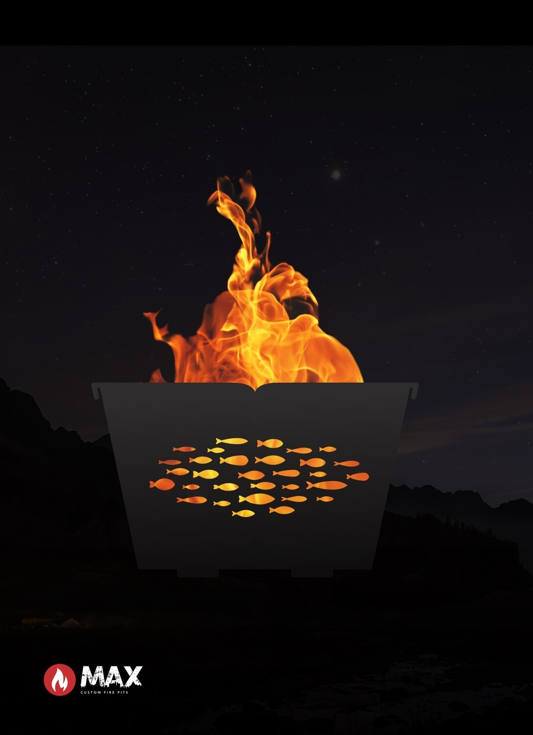 Schooling Fish Fire Pit