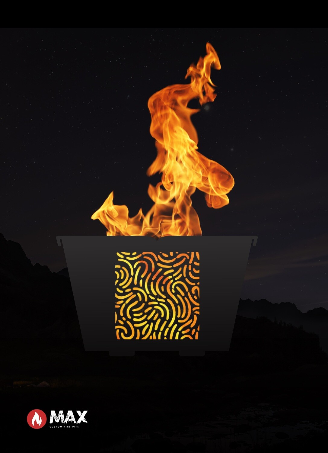 Earthy Lines Fire Pit