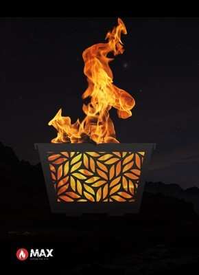 Geometric Pattern Fire Pit
