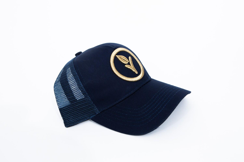 Navy & Gold Trucker Cap