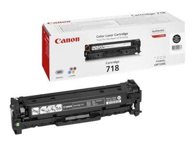 Canon 718 Black - 2-pack - black - original - toner cartridge
