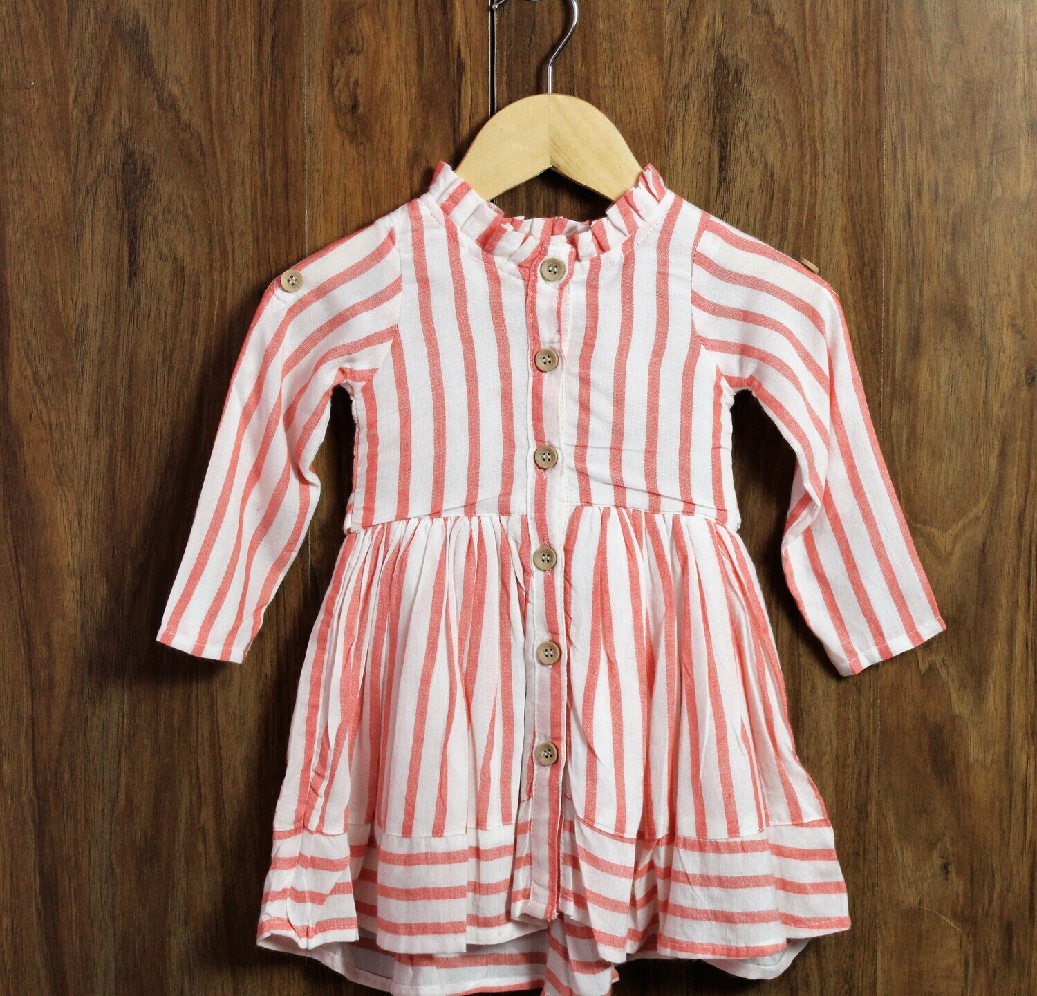 Orange Stripes frocks with panty set(6 months to 2-3 Yrs.)