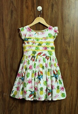 Parrot print frock(4 to 12 Yrs.)