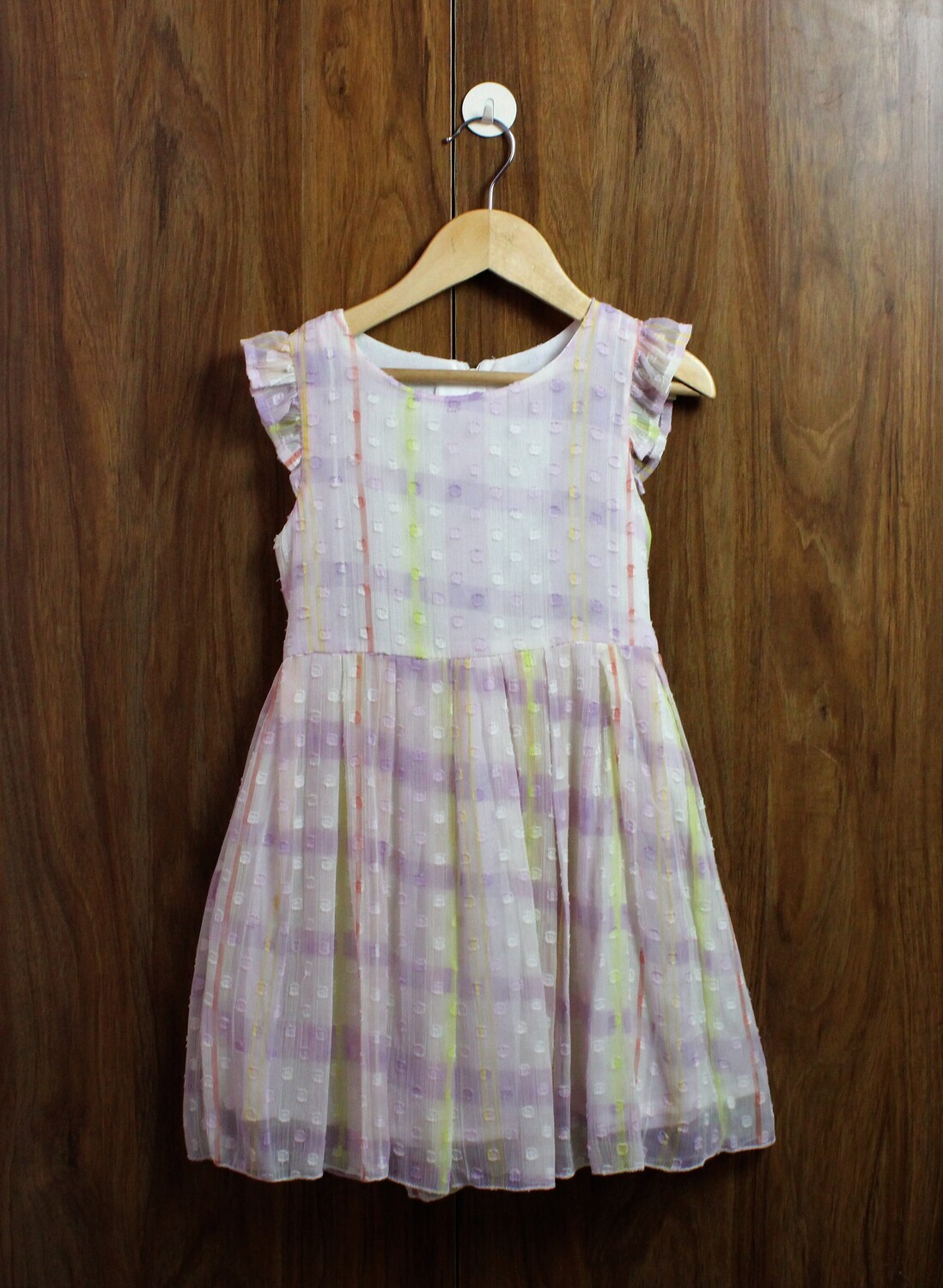 Chiffon dress with lined cotton(4 to 12 Yrs.)