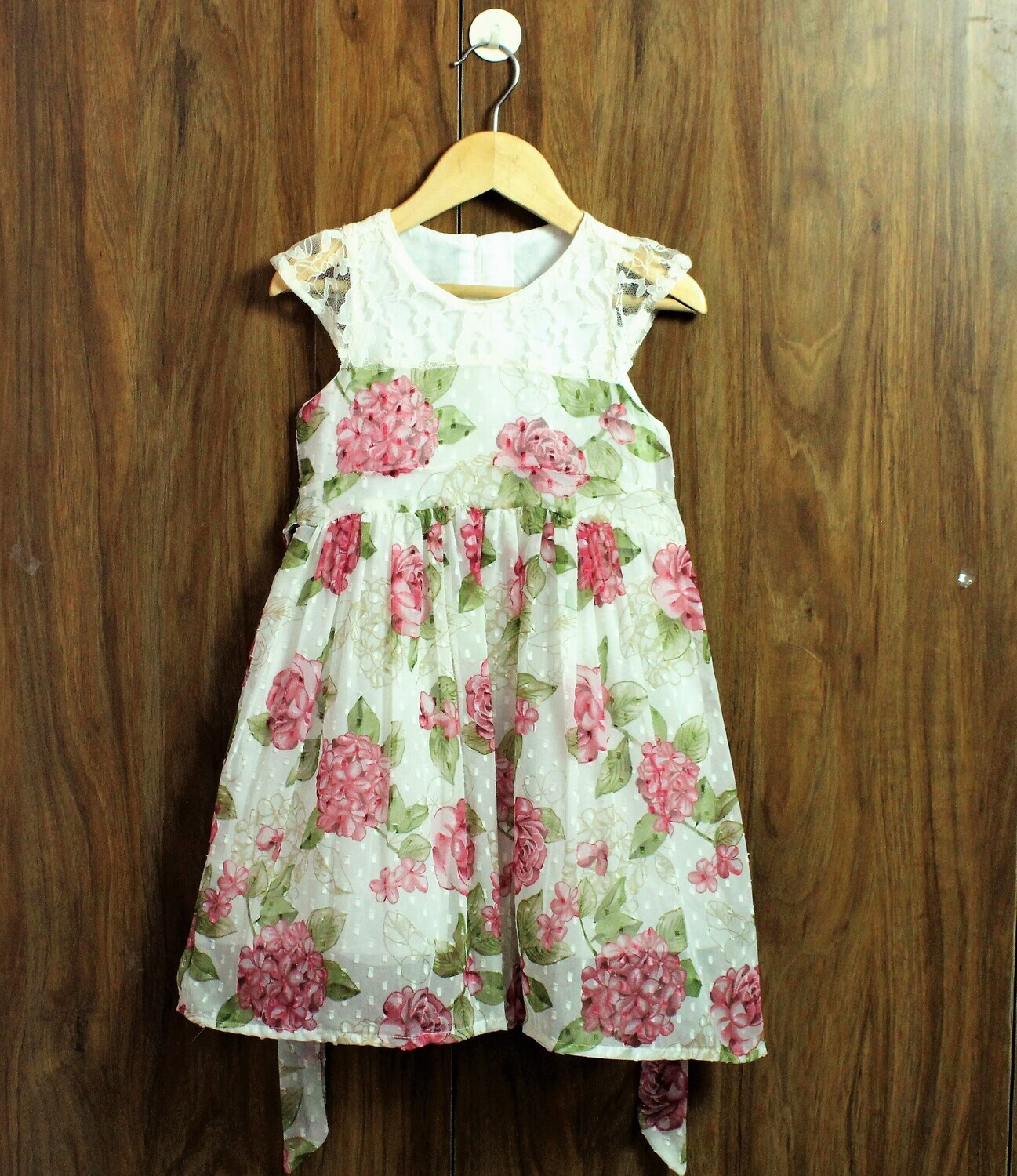 Print dress with lined cotton(4 to 12 Yrs.)