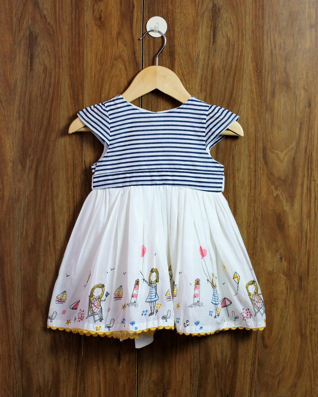 Blue stripes dress(6 months 7-8 Yrs.)