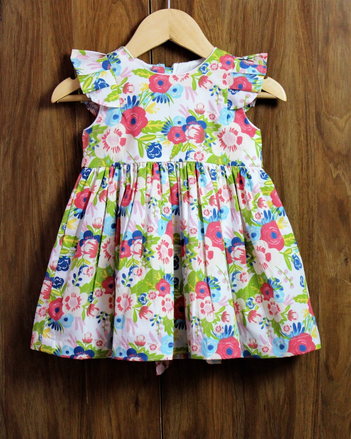 Flower print frocks(6 months to 6 Yrs.)