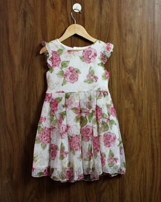 Butta print inside lined cotton(4 to 12 Yrs.)
