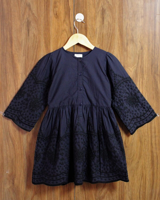 Emb design cotton dress(4 to 12 Yrs.)