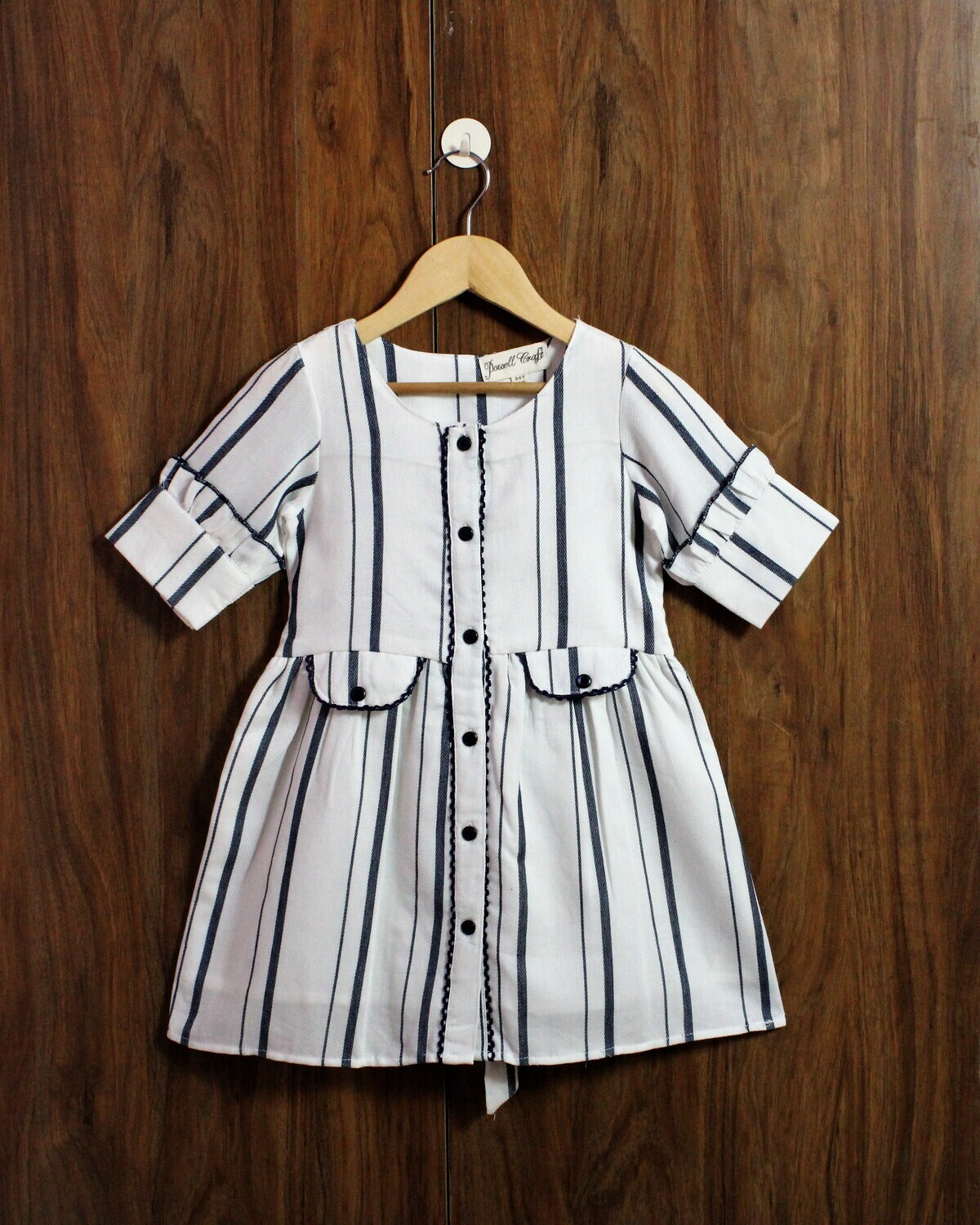 Elbow sleeve frock(3-4 to 12-13 Yrs.)