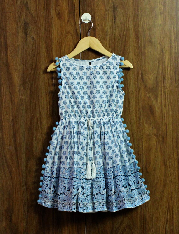 pom pom dress(3-4 to 12 yrs.)
