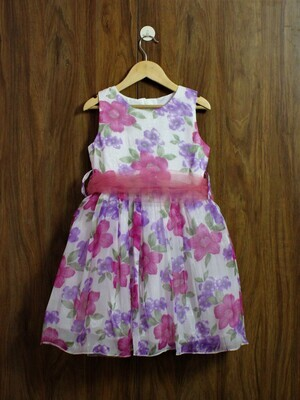 party dress with lined cotton(4 to 12 Yrs.)