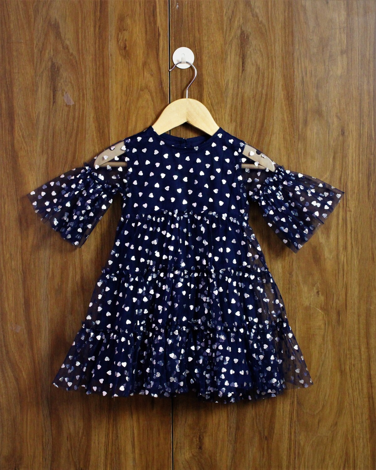 Party dress with lined cotton(1 to 4 Yrs.)