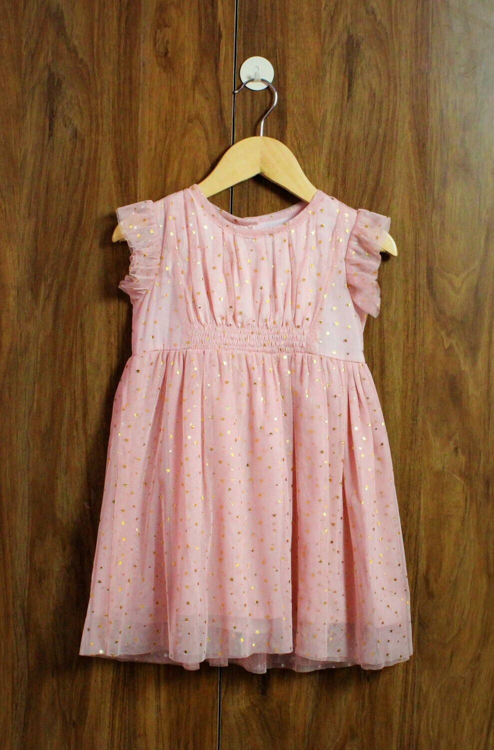 Golden star party dress(1-to 4 years)