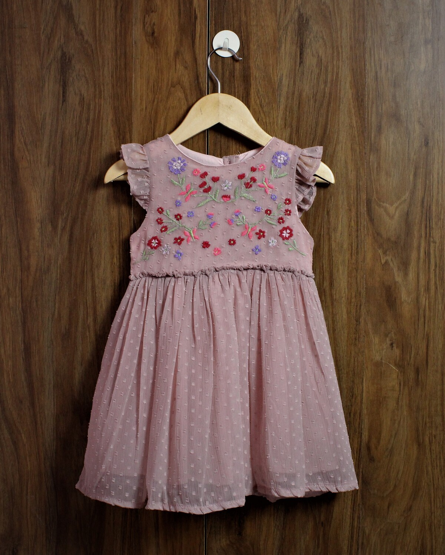 Emb dress(1 to 7 Yrs.)