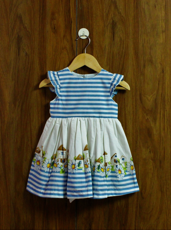 Sky blue dress(1 to 8 yrs.)