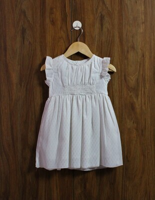 Golden dot party dress(1 to 4 Yrs.)