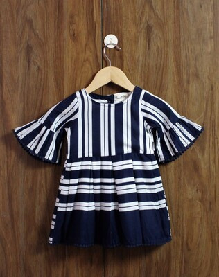 Bell sleeve comfort dress(6 months to 2-3 Yrs.)