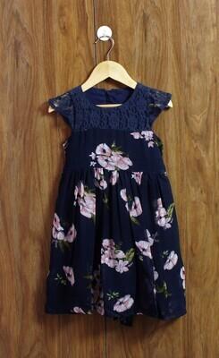 Chiffon blue dress(4 to 12 Yrs)