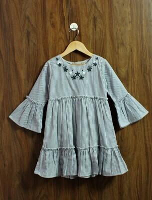 Bell emb dress(4 to 12 Yrs.)