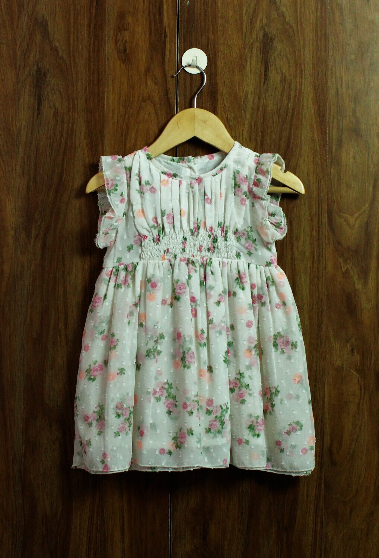 Flower print dress(1 to 4 Yrs.)