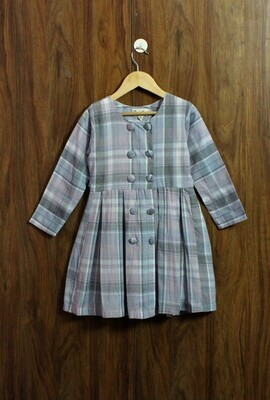 Full sleeve Cotton dress(4 to 12 Yrs.)
