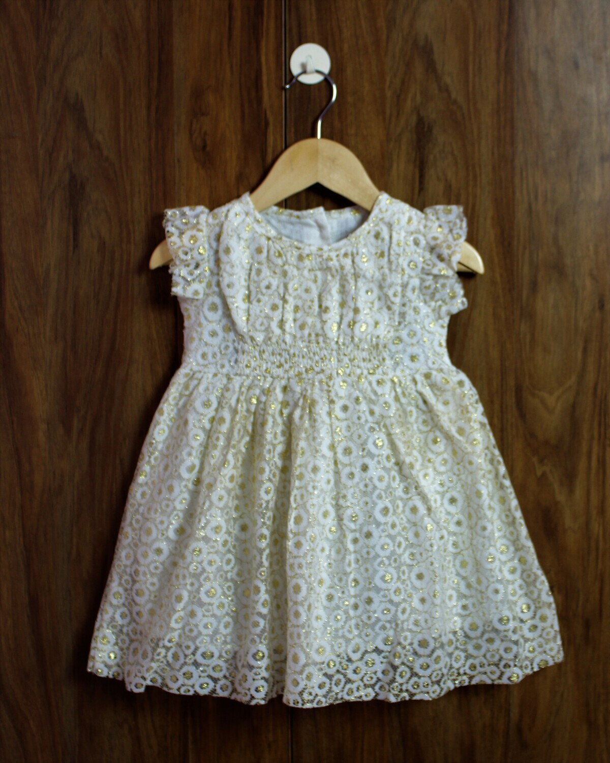 Golden print party wear(1 to 4 Yrs.)