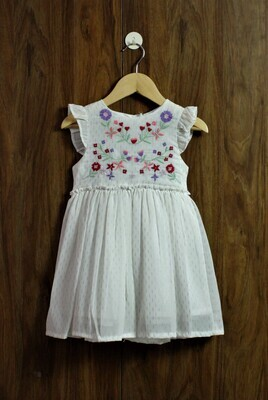 emb classic look dress(1 to 7-8 Yrs.)