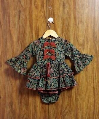 full bell sleeves dress(3 months to 3 Yrs.)