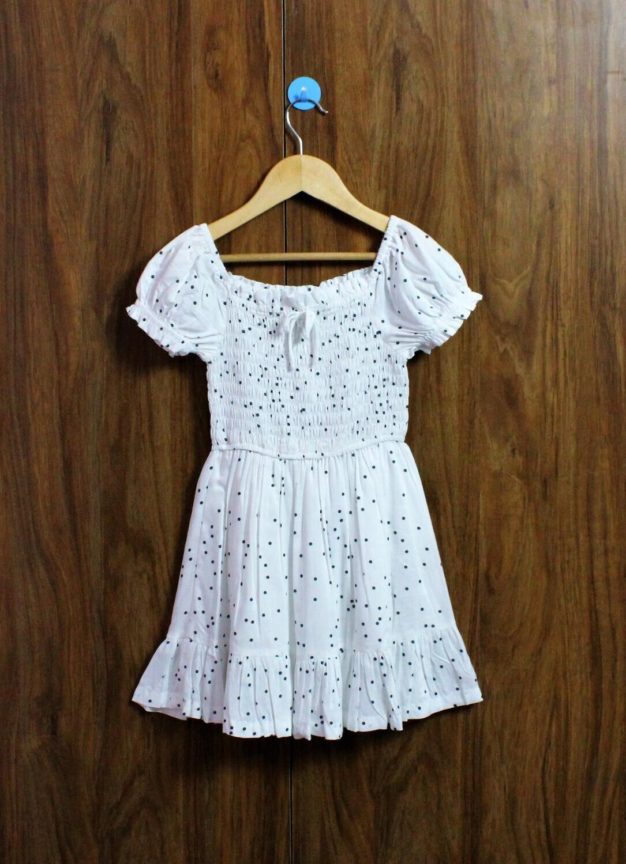 Somked dress in polka(4 to 12 Yrs.)