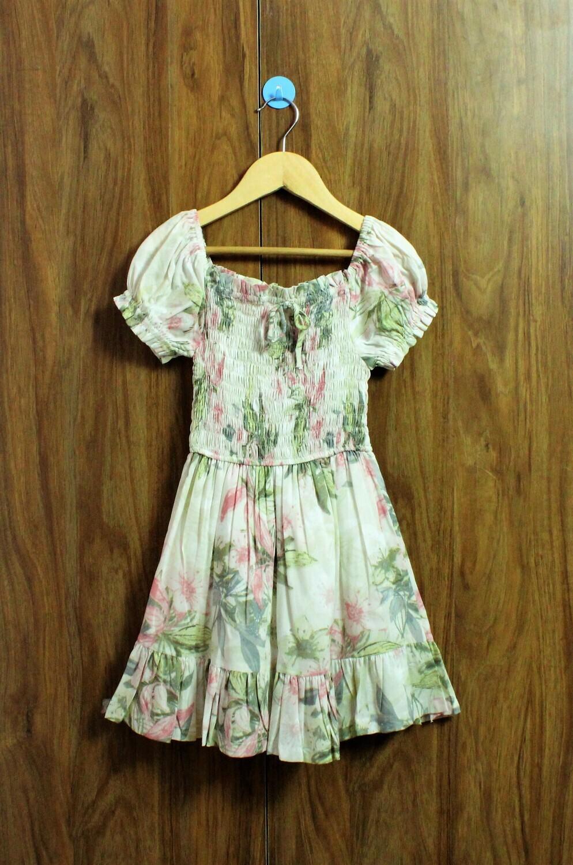 Smoked flower dress(4 to 12 Yrs.)