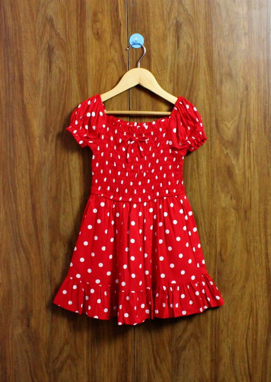 Red polka smoked dress
