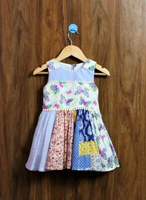 Patch design quality dress(1 to 7-8 Yrs)