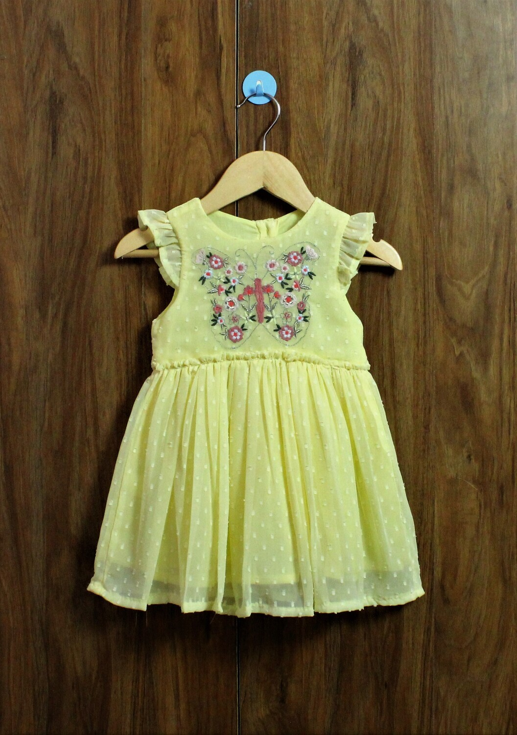 Butterfly Emb dress(1 to 7-8 Yrs.)