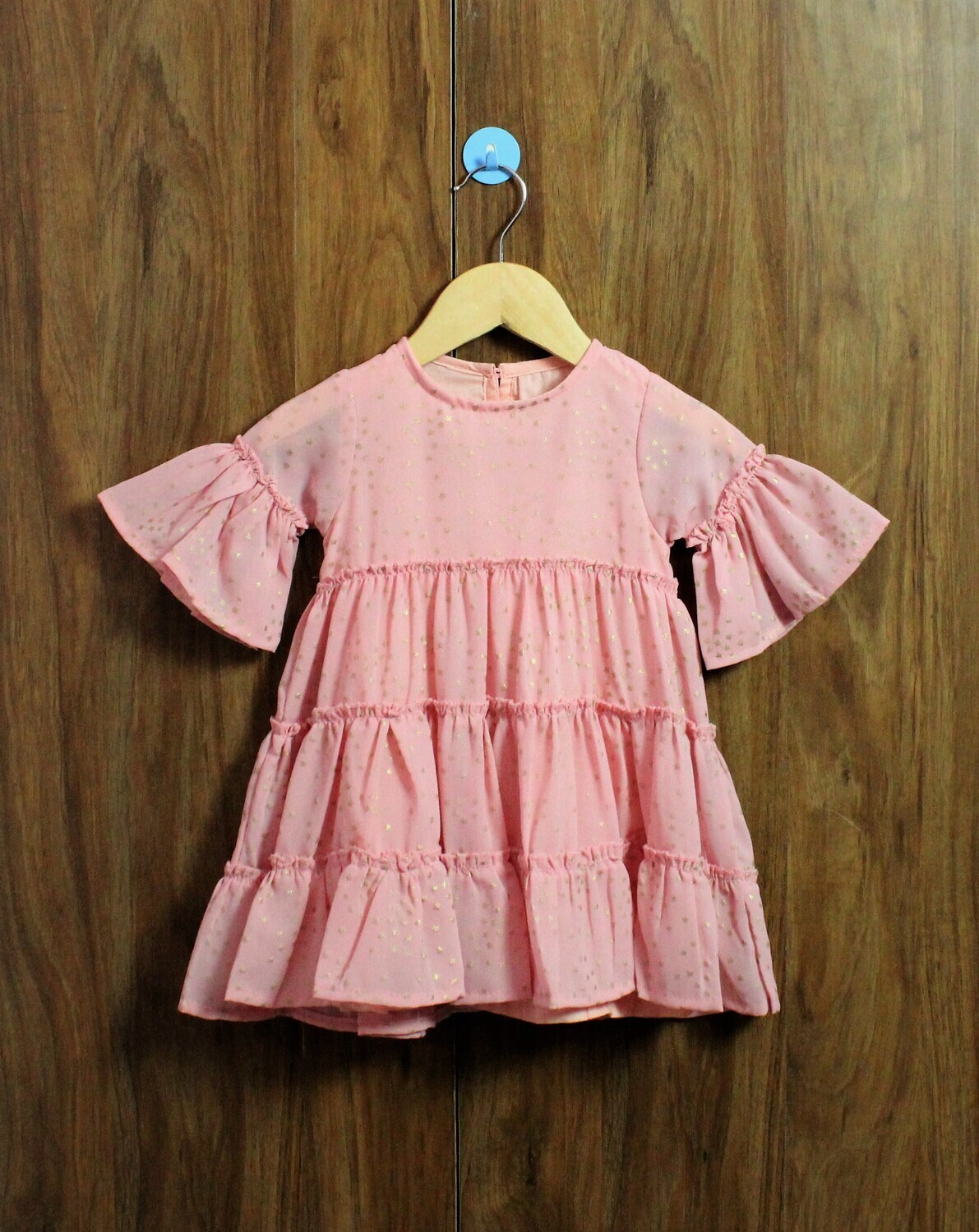 Bell sleeves dress(1 to 6 Yrs.)