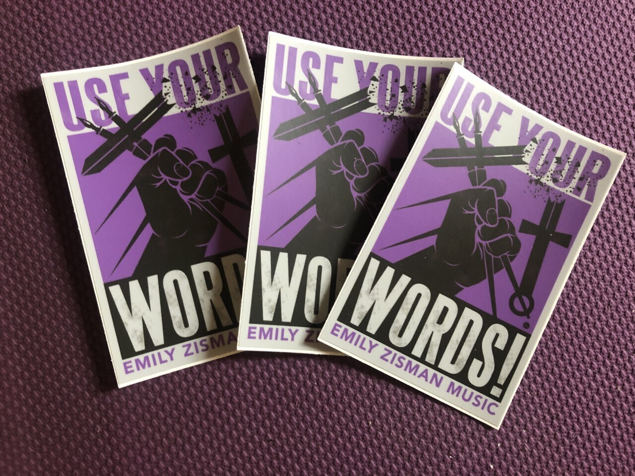 USE YOUR WORDS stickers