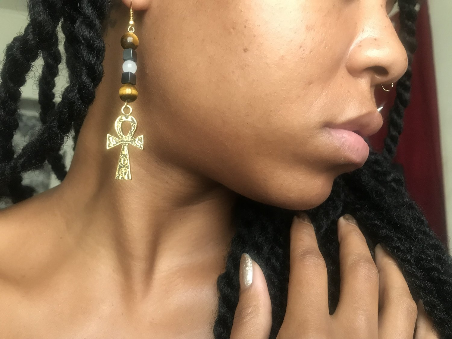 Kemetic Krystal Earrings
