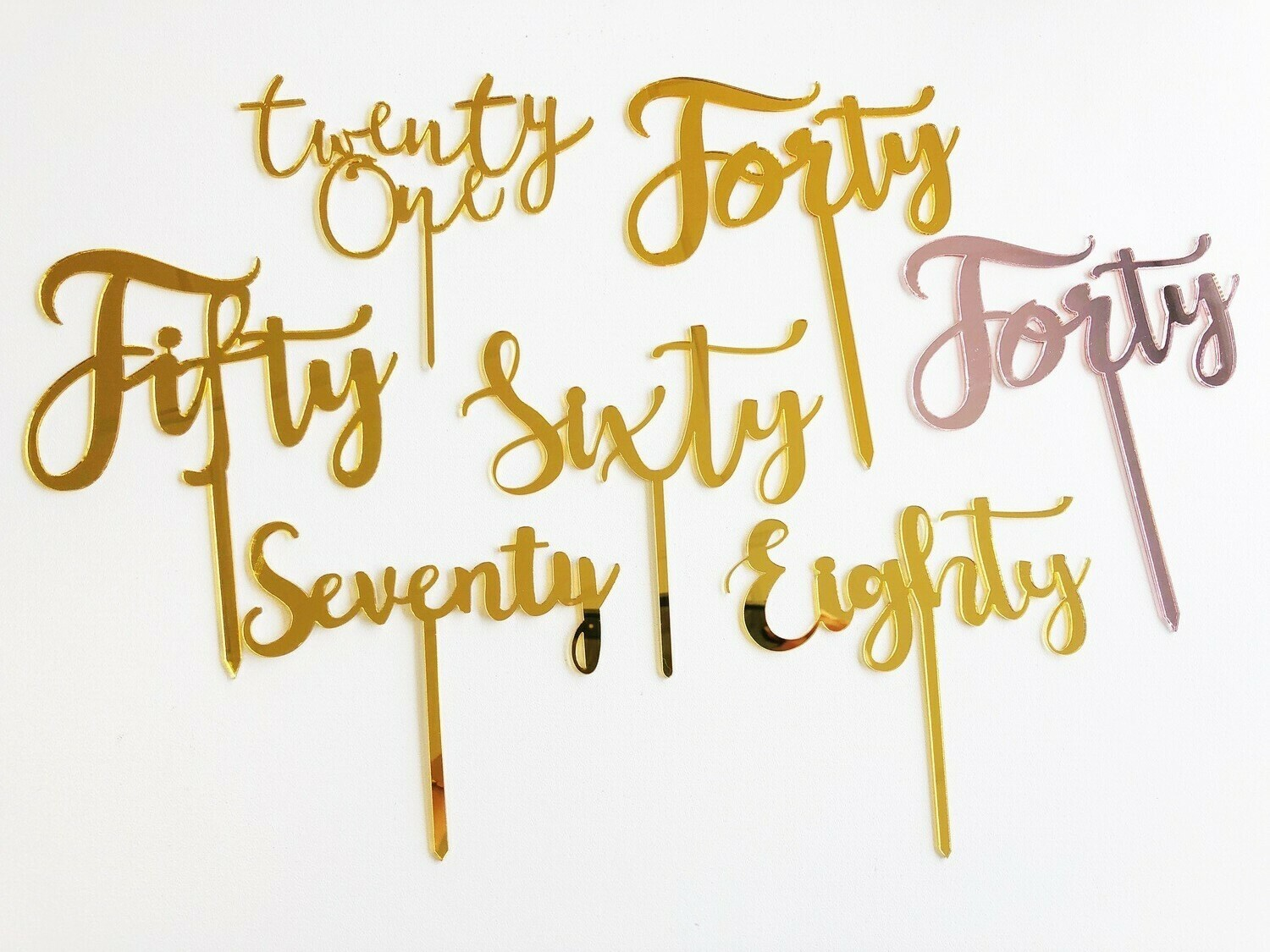 Acrylic Cake Toppers