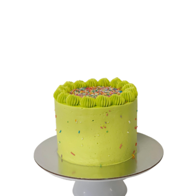 Lime Green Party Cake