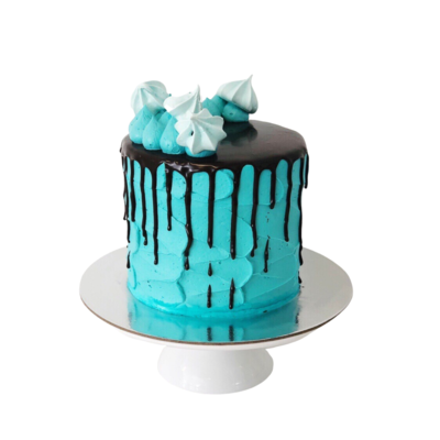 Drip & Meringue Cake