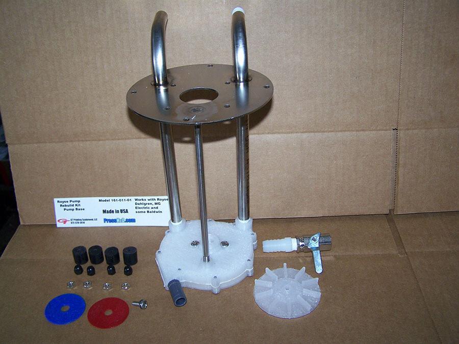 Fountain Solution Pump Rebuild Kit: BOTTOM