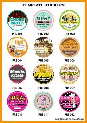 PilihanTemplate Sticker Produk Makanan dan Minuman