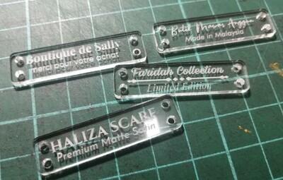TAG atau Label Pakaian Acrylic
