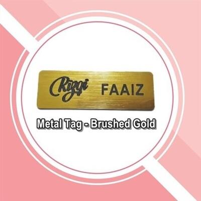 Name TAG Silver & Gold Brushed (Engraving)