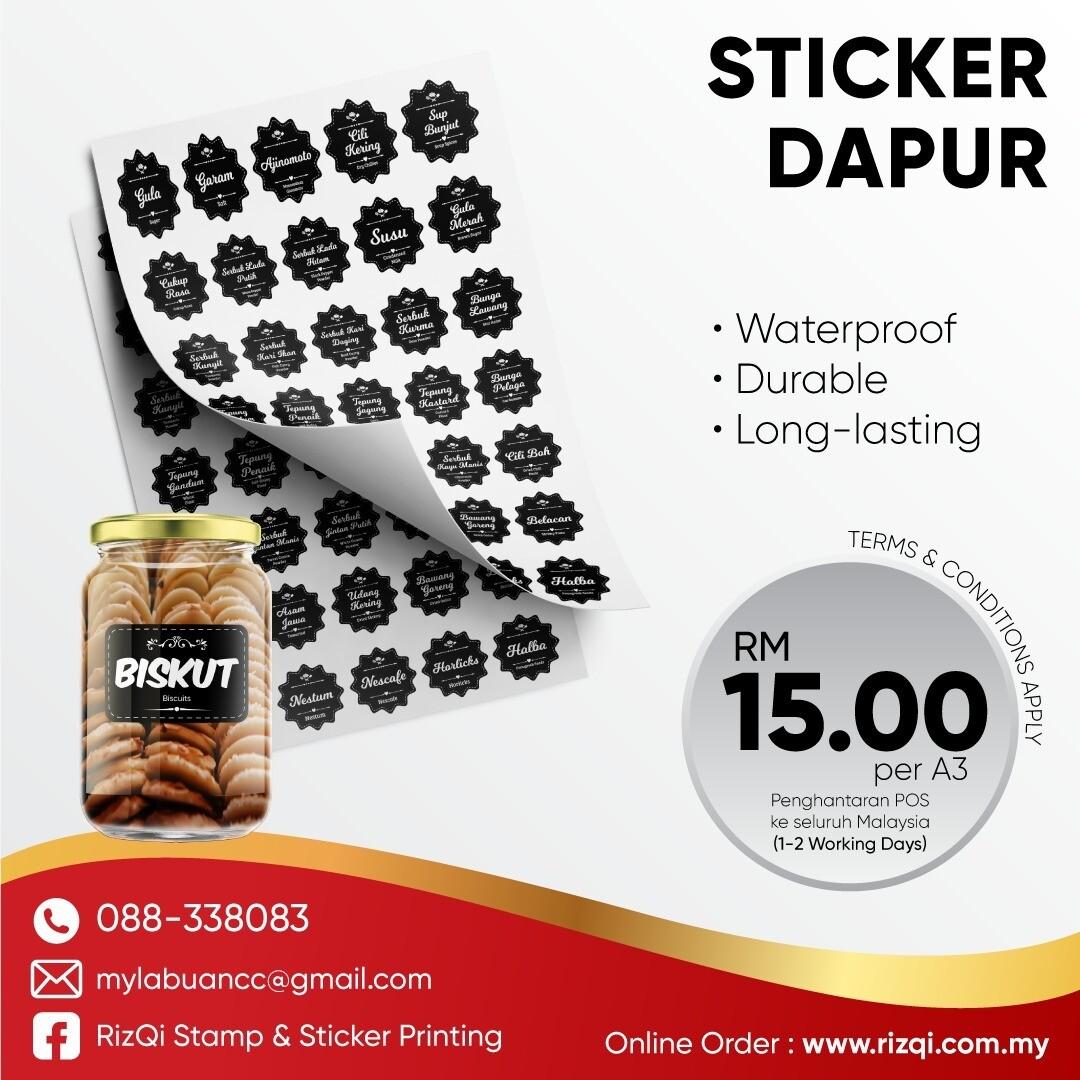 Cetak Sticker Dapur
