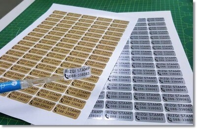 Cetak Sticker Nama